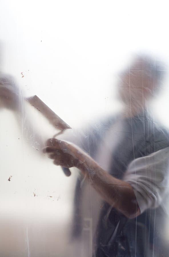 Download Craftsman, plasterer stock image. Image of mortar, ladle - 30501325
