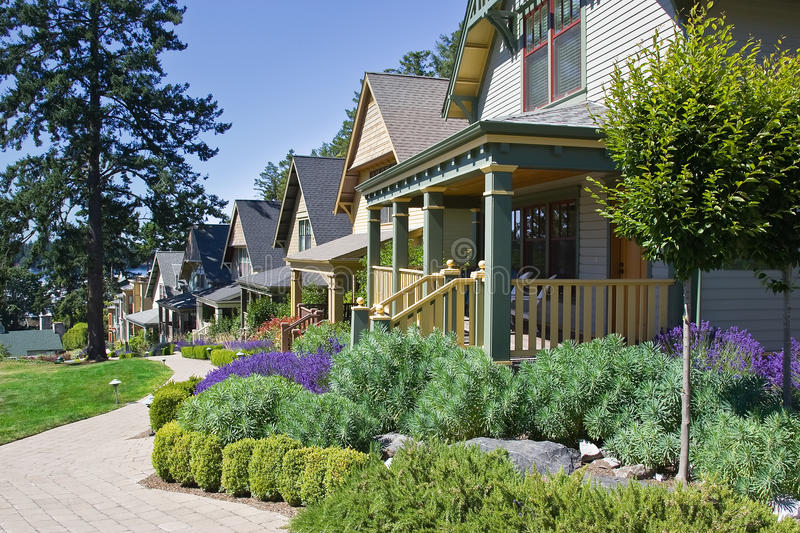 Craftsman Style Cottage Homes royalty free stock photo