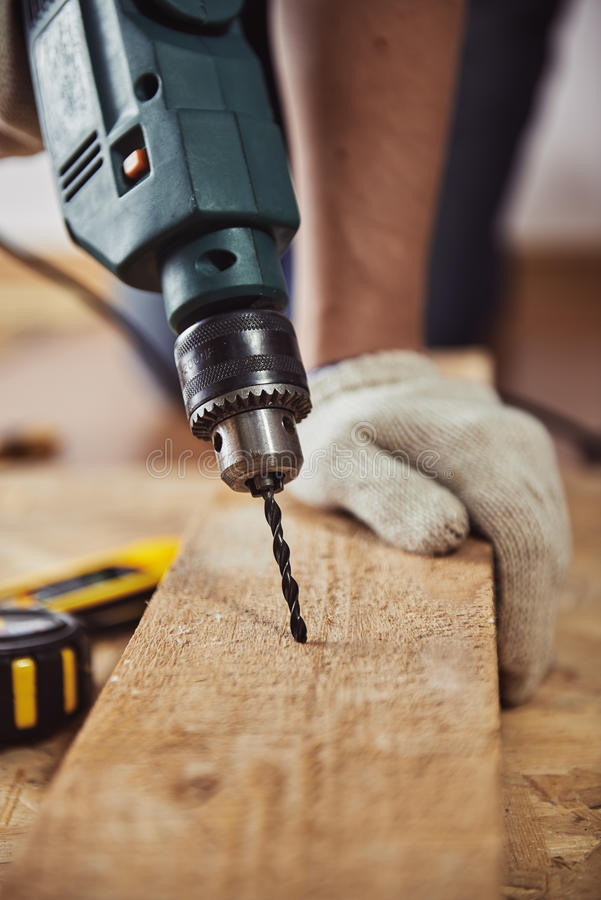 Free Craftsman With Drill Stock Image - 78327301