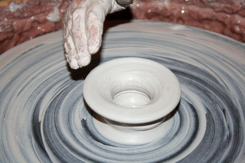 Craftsman, working with clay stock photo