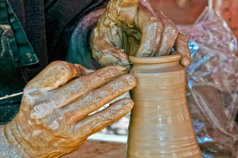 Download Craftsman Working The Clay Stock Photos - Image: 32145433