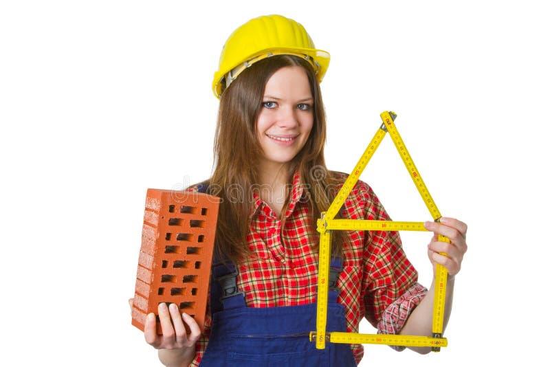 Craftswoman amichevole fotografie stock