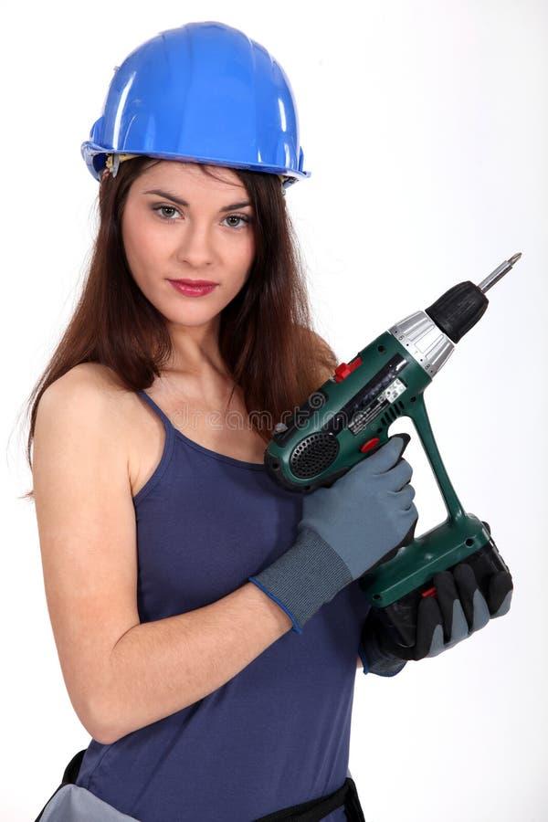Craftswoman sexy fotografie stock