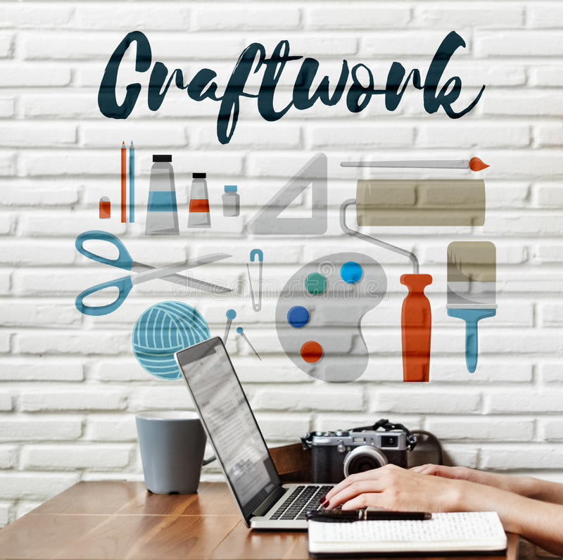 Craftwork Arts and Craft Artistic Design Ideas Concept royalty free stock image