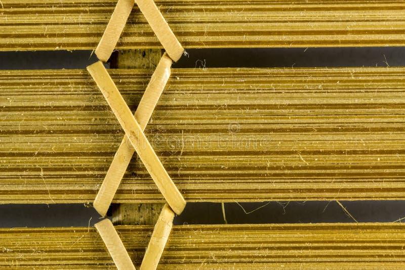 Craftwork with bamboo fibers close up texture. Photo of craftwork with bamboo fibers close up texture royalty free stock photos