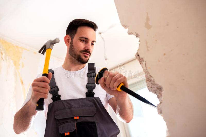 In crafty hands of an experienced worker royalty free stock photo