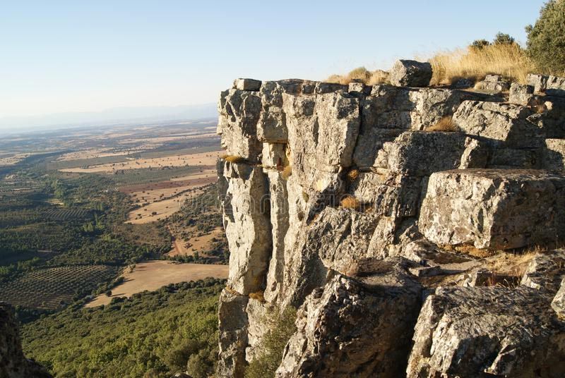 Crag Ñaña Toledo. Where nature gives you peace and calm, making you disconnect in total and relax royalty free stock photo
