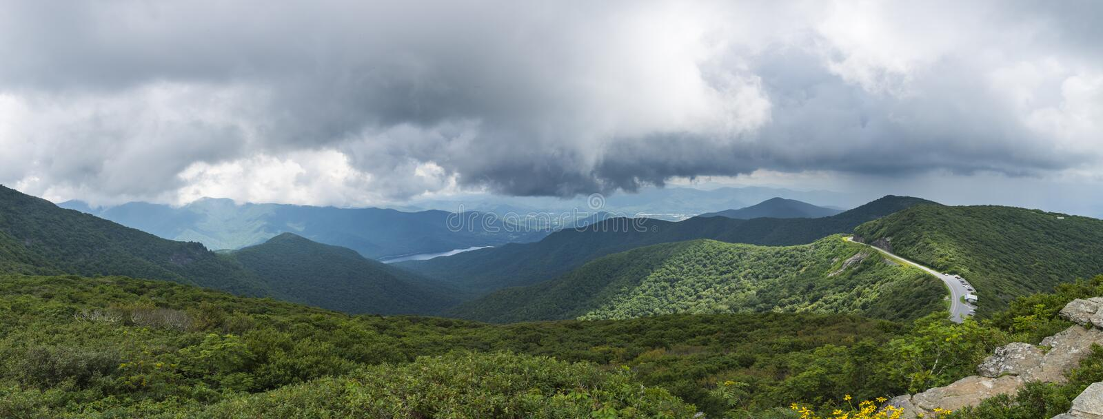 Craggy Gardens Panorama royalty free stock images