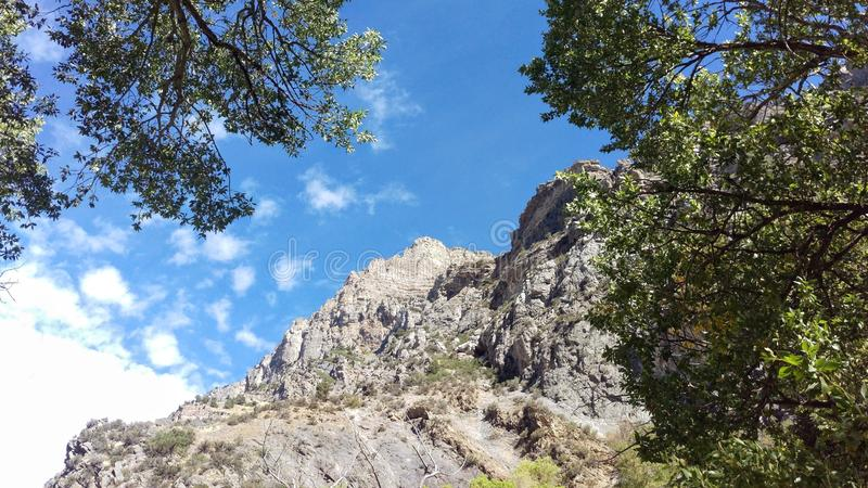 Craggy Outcrop in Rock Canyon stock photos