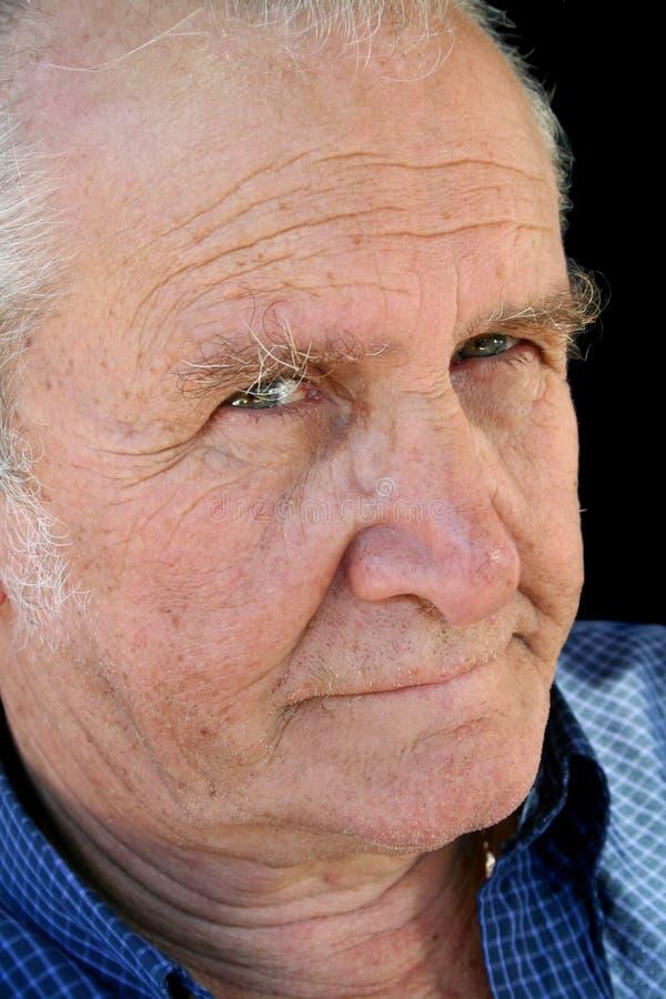 craggy stirra för pensionär arkivfoto