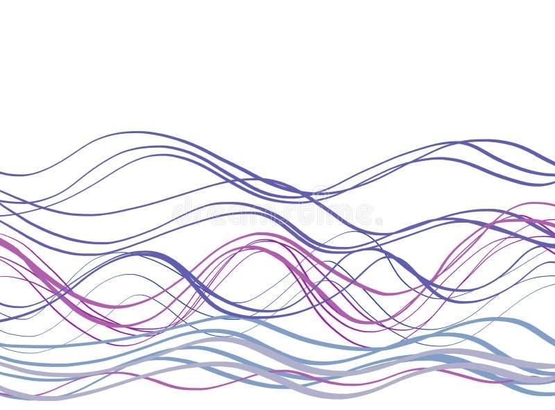Craie de Callygraphic WavesPastel illustration stock