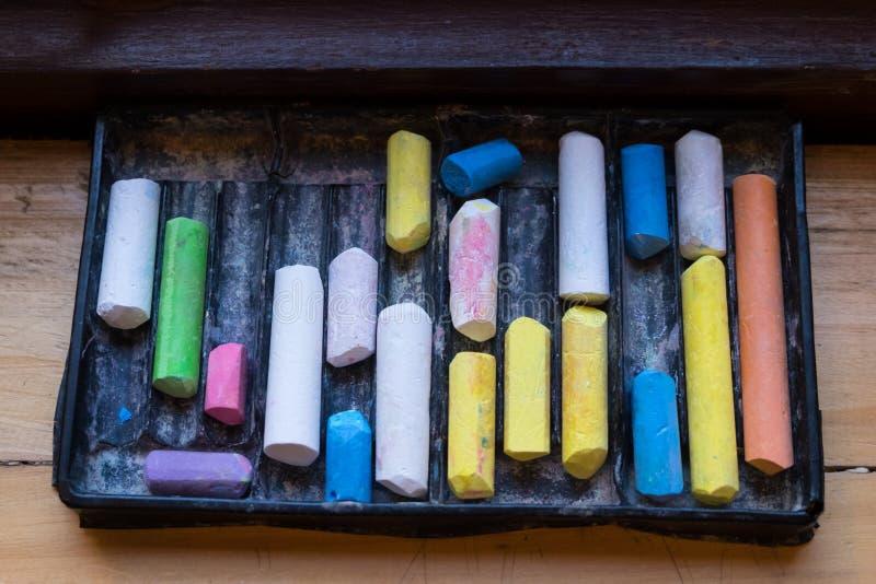 Craie de couleur photographie stock