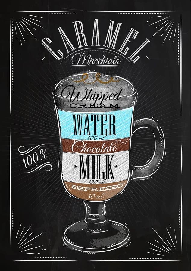 Craie de crème de caramel d'affiche illustration stock