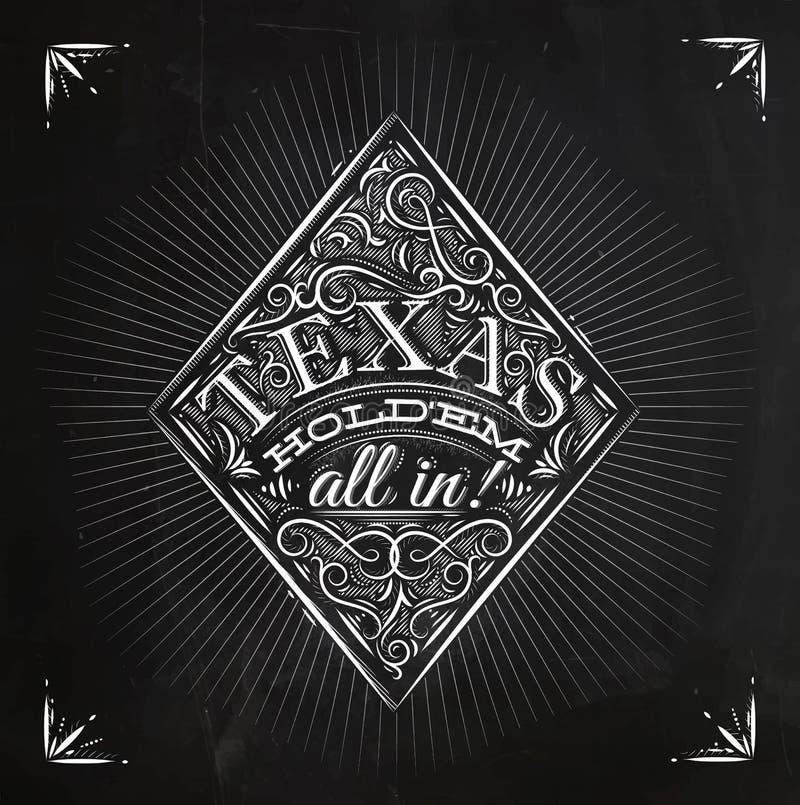 Craie de holdem du Texas de diamants illustration de vecteur