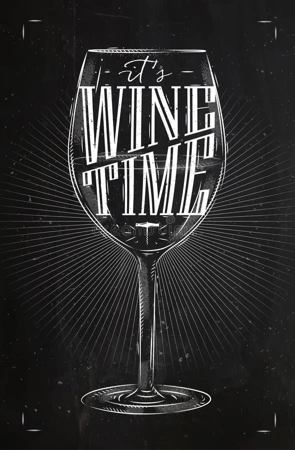 Craie de temps de vin d'affiche illustration libre de droits