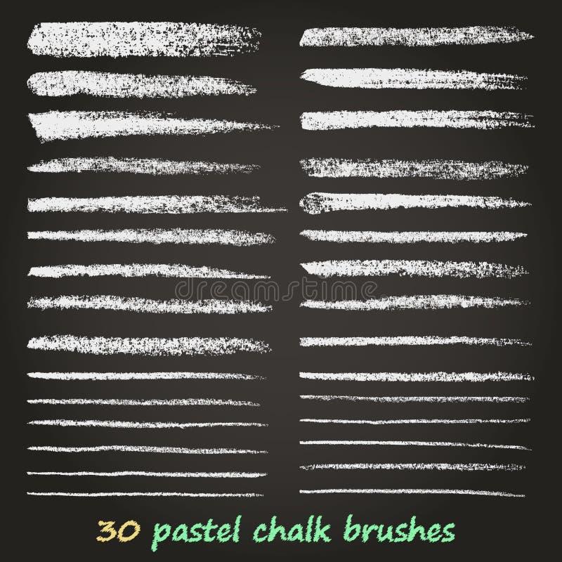 Craie et charbon de bois Un ensemble de traçages de vecteur Texture grunge Une haute résolution Des brosses sont stockées dans la illustration libre de droits