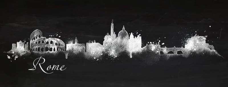 Craie Rome de silhouette illustration de vecteur