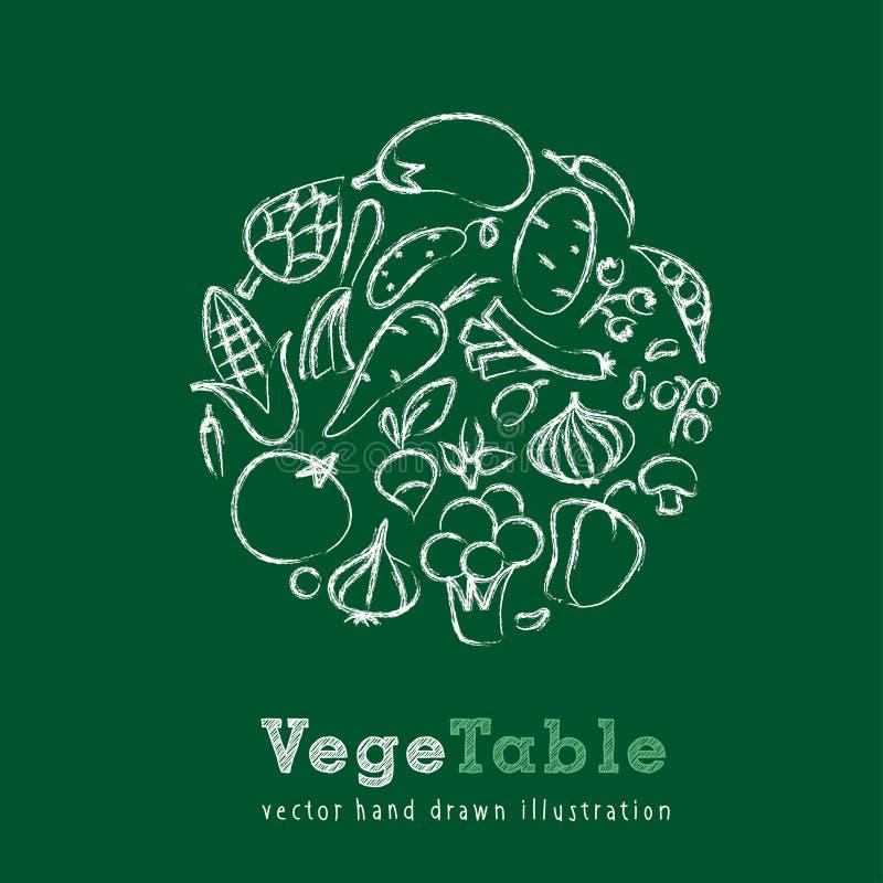 Craie végétale illustration libre de droits