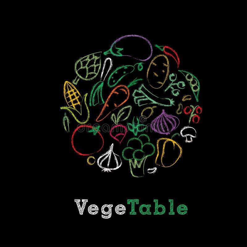 Craie végétale de couleur illustration de vecteur