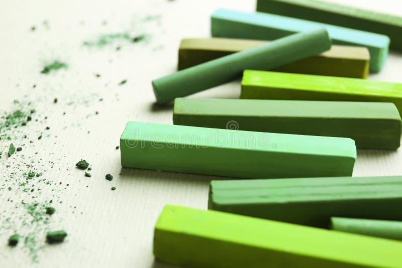 Craie vert clair images stock