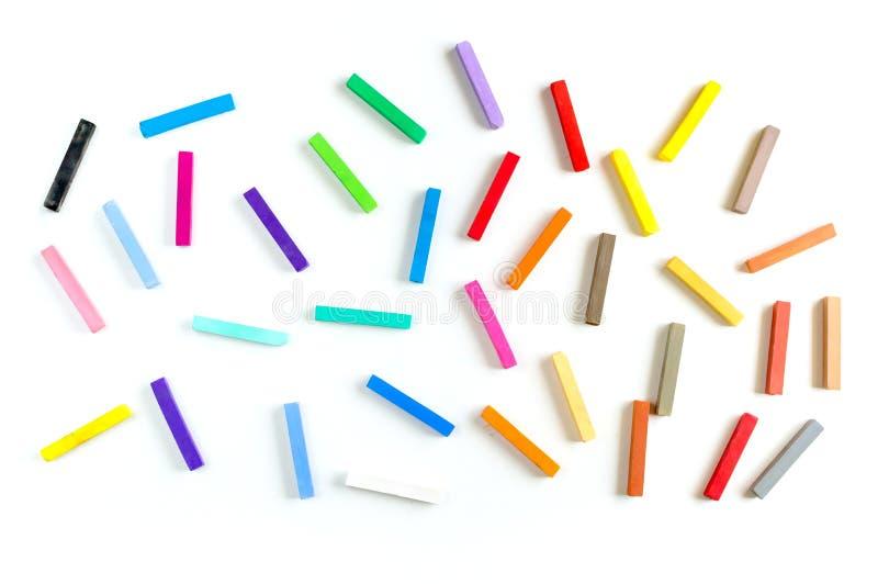 Craies colorées et modèle sans couture de pastels photo libre de droits