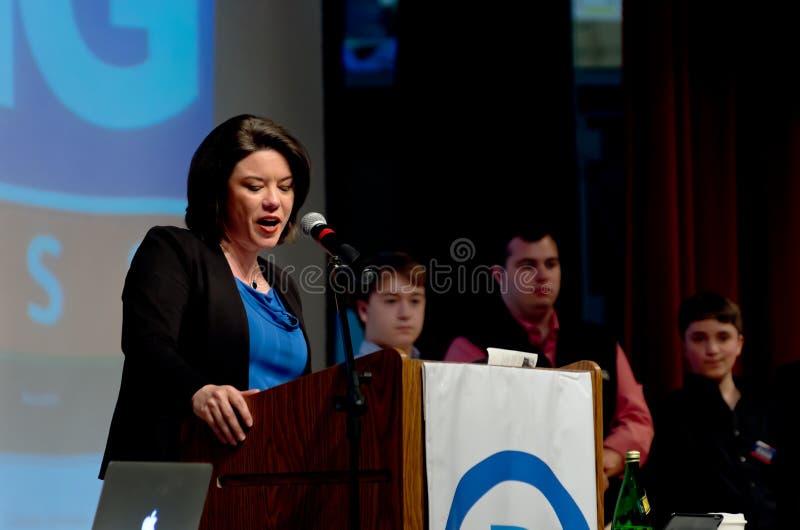 Craig Addresses Convention fotografía de archivo libre de regalías