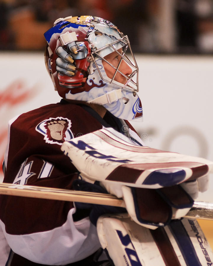 Craig Anderson, Colorado Avalanche. Colorado Avalanche goalie Craig Anderson stock images