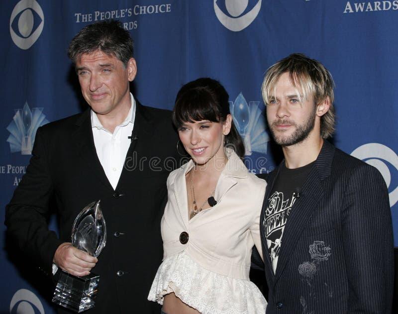Craig Ferguson, Jennifer Love Hewitt και Dominic Monaghan στοκ φωτογραφίες