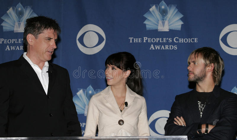 Craig Ferguson, Jennifer Love Hewitt e Dominic Monaghan fotos de stock