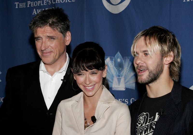 Craig Ferguson, Jennifer Love Hewitt e Dominic Monaghan imagem de stock royalty free