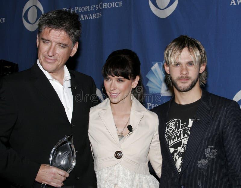 Craig Ferguson, Jennifer Love Hewitt e Dominic Monaghan fotografia de stock royalty free