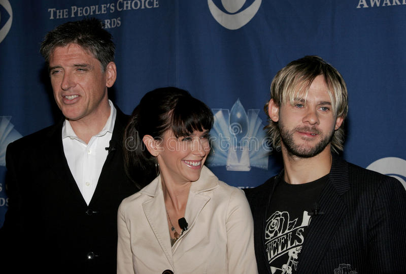 Craig Ferguson, Jennifer Love Hewitt e Dominic Monaghan fotos de stock royalty free