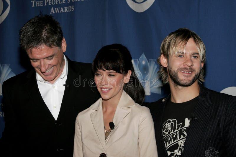 Craig Ferguson, Jennifer Love Hewitt y Dominic Monaghan foto de archivo