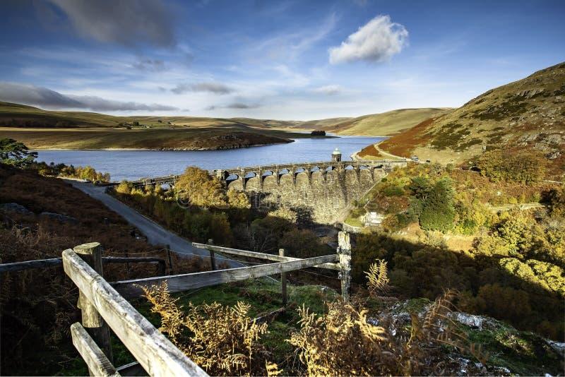 Craig Goch Dam e bacino idrico immagini stock libere da diritti