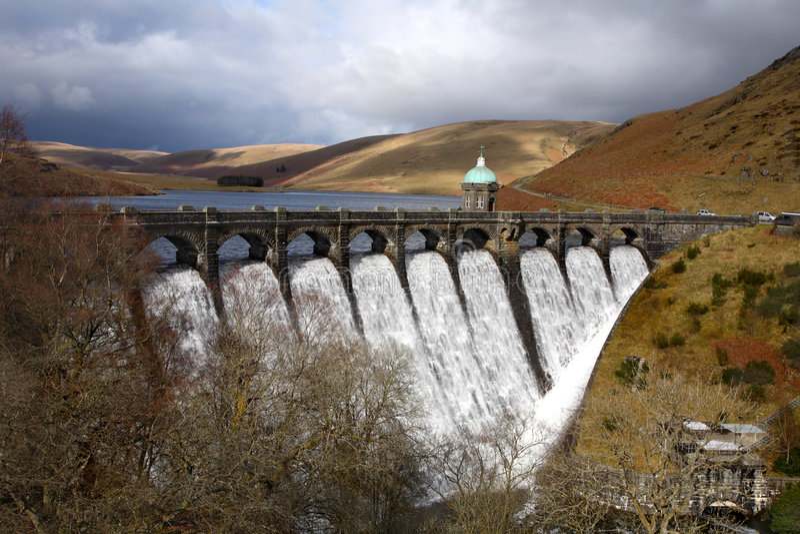 Craig Goch reservoir. royalty free stock photos