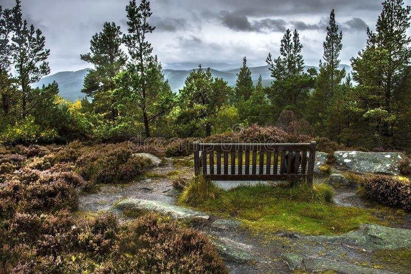 Craigendarroch Hill. Ballater in Royal Deeside. Aberdeenshire, Scotland, UK. Craigendarroch summit. Ballater is a burgh in Aberdeenshire, Scotland on the River royalty free stock images