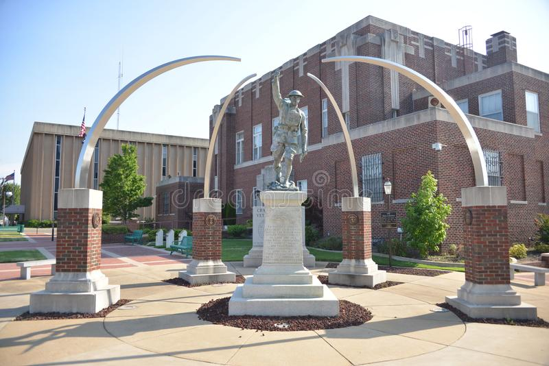 Craighead退伍军人纪念Jonesboro,阿肯色 免版税图库摄影