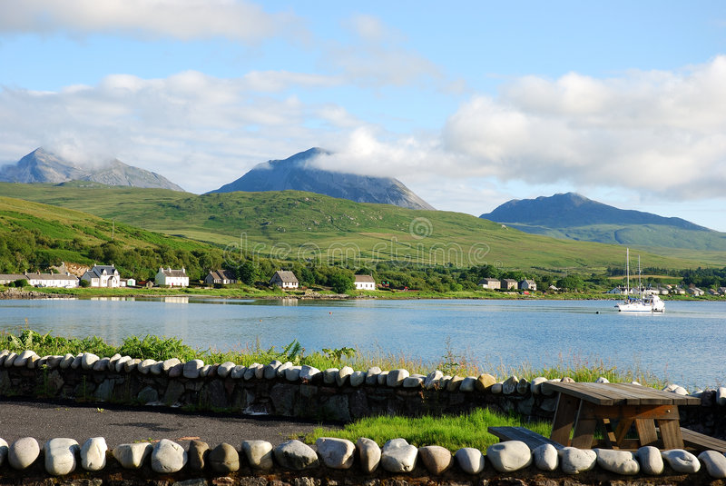 Craighouse island of jura stock image