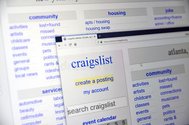 Craigslist Classified Advertisements Website Logo Editorial