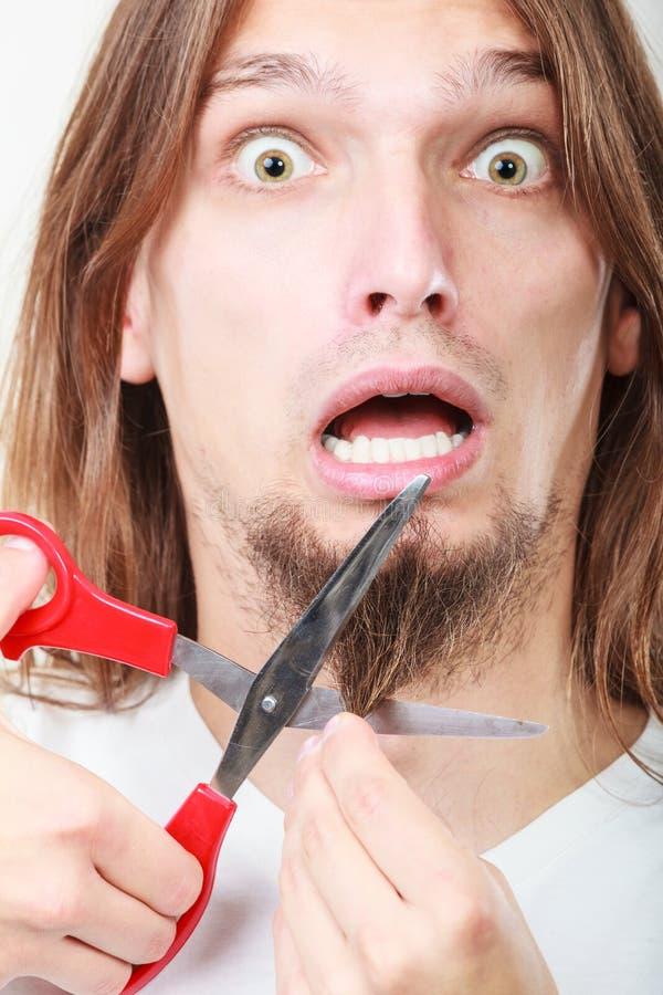Crainte de barbe de coupe image libre de droits