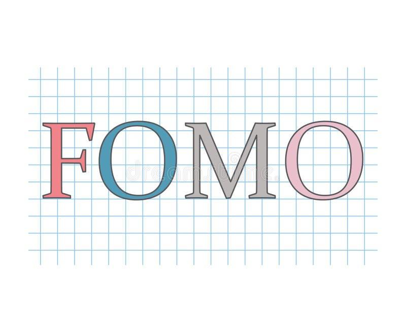 Crainte de FOMO de manquer le concept illustration libre de droits