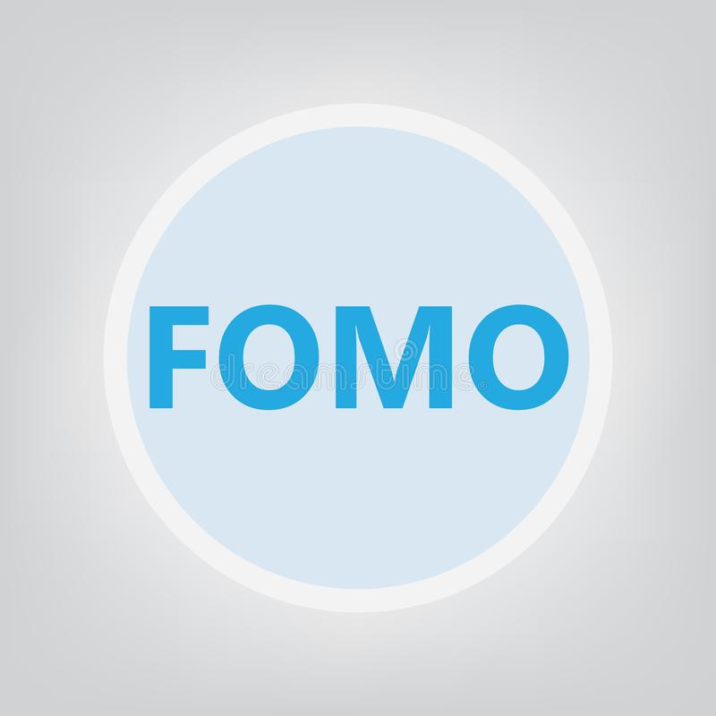 Crainte de FOMO de manquer le concept illustration stock
