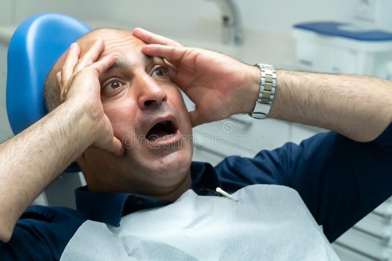 Crainte des dentistes image stock
