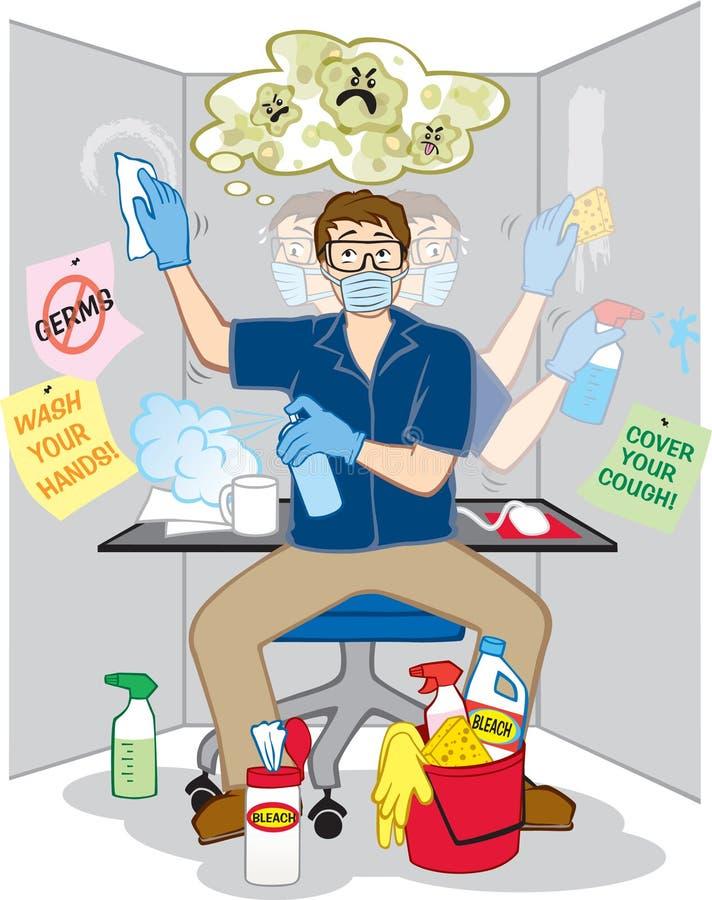 Crainte obsessionnelle des germes illustration libre de droits