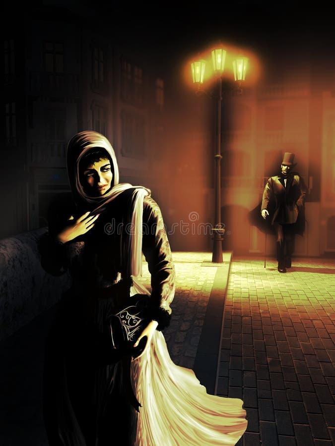 Craintes de nuit illustration de vecteur