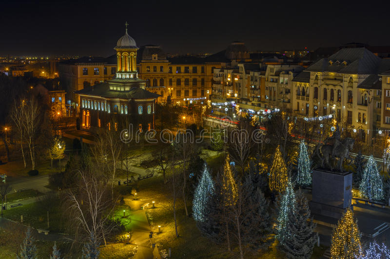 Craiova in Christmas days royalty free stock images