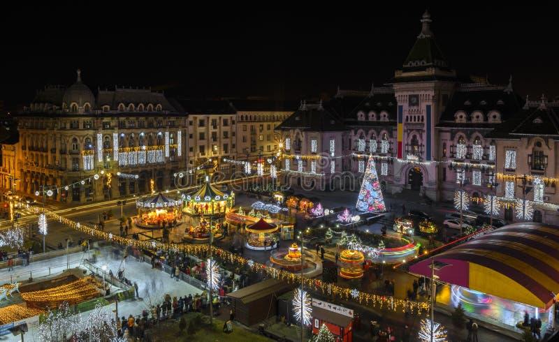 Craiova en días de la Navidad fotos de archivo