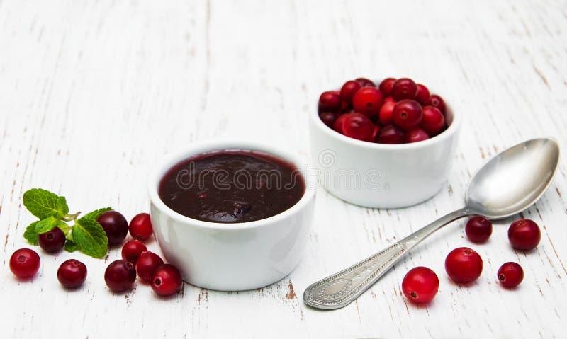 Cranberries dżem zdjęcia royalty free