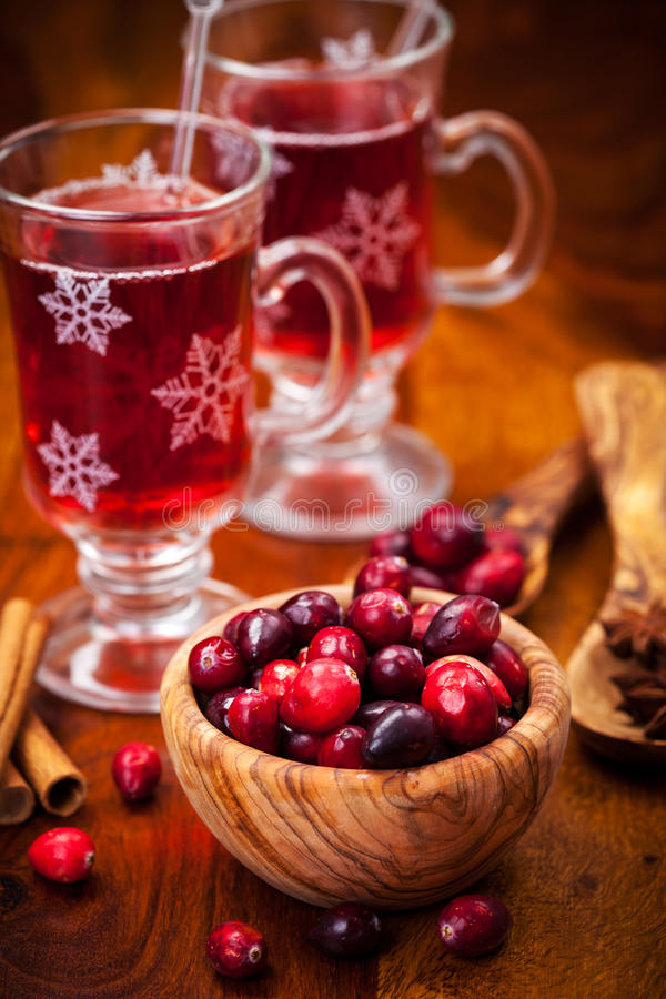 Download Cranberries With Hot Mulled Wine Stock Photos - Image: 27707563