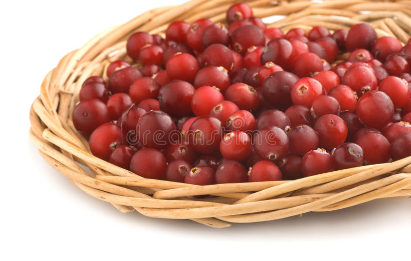 Download Cranberries In A Wicker Tray Stock Photo - Image: 20260494